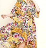Honey Mix Floral/Striped Bell Sleeve Dress