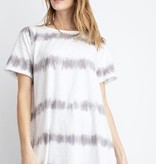 Ash Oversized SS Striped Tie Dye Top