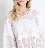 White Lace Detail Cropped Top