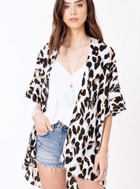 Ivory Leopard Kimono