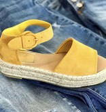 Raylee Yellow Ankle Strap Platform