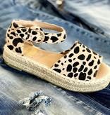 Raylee Leopard Ankle Strap Platform