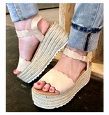 Scalloped Platform Sandal
