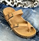 Lila Tan Toe Strap Sandal
