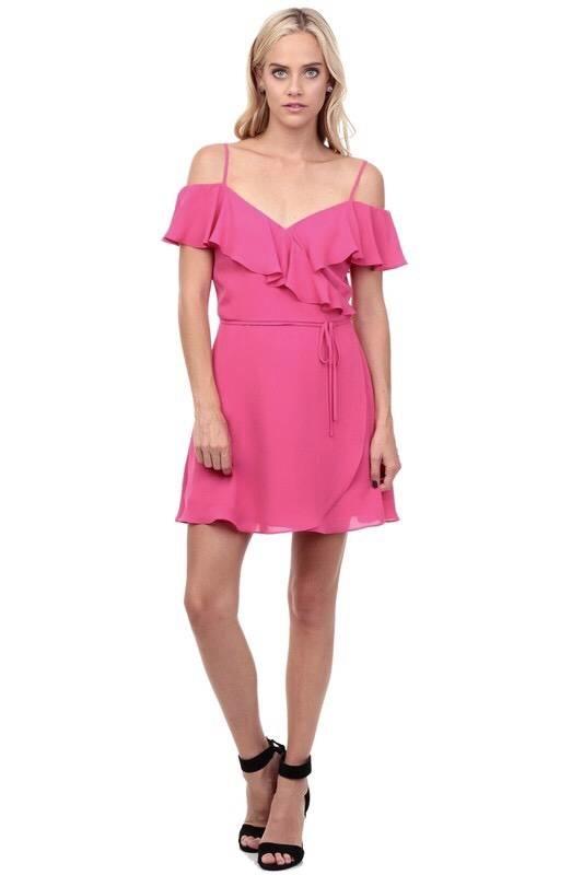 Kylie Wrap Dress Pink