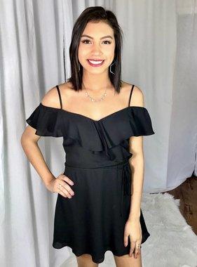 Kylie Wrap Dress Black
