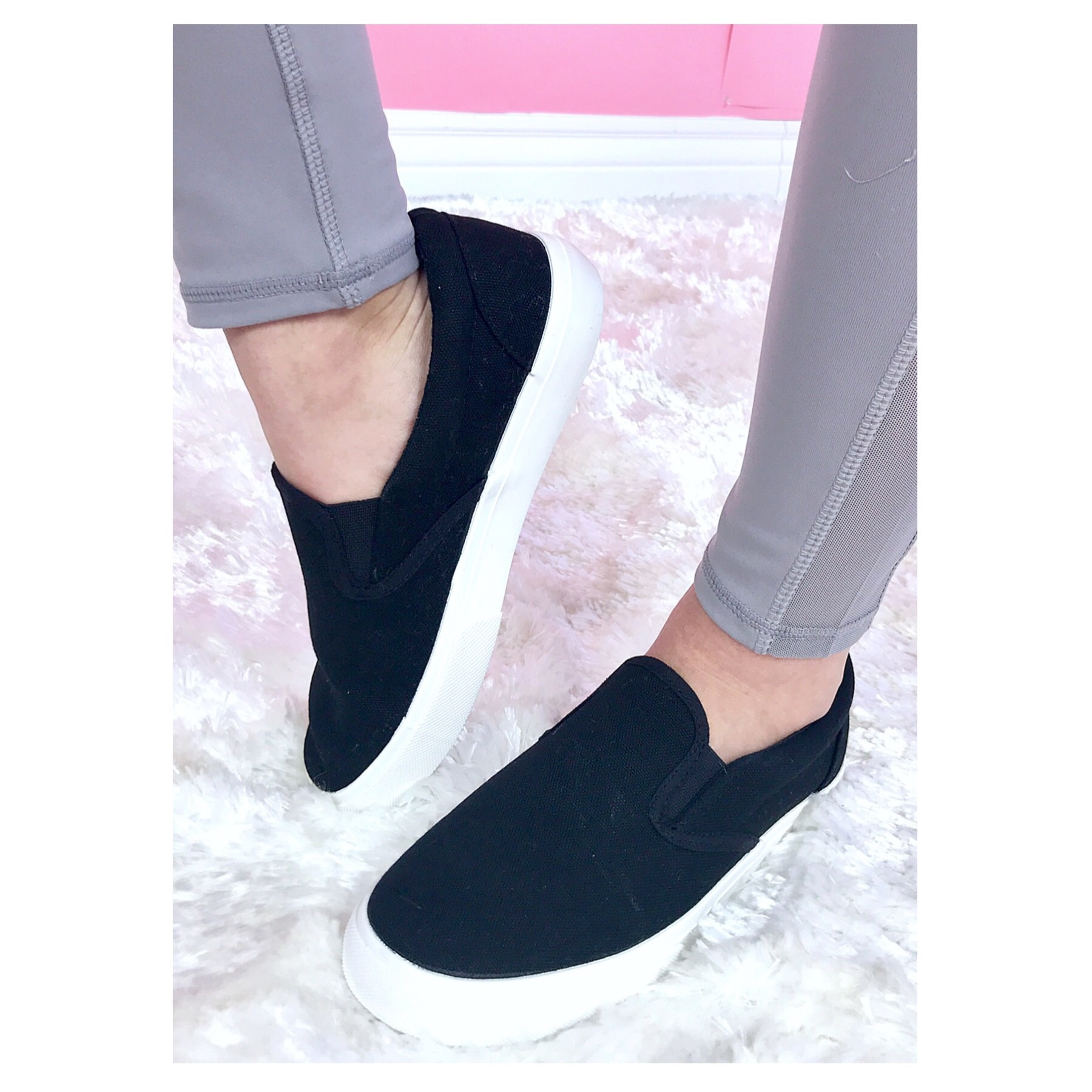 Black Slide-On Sneaker