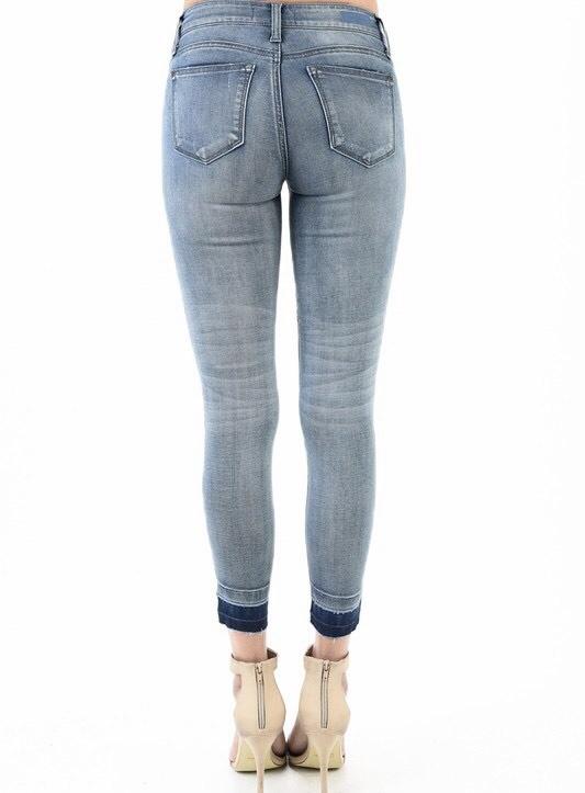 Judy Blue Medium Wash Release Hem Skinny Jean