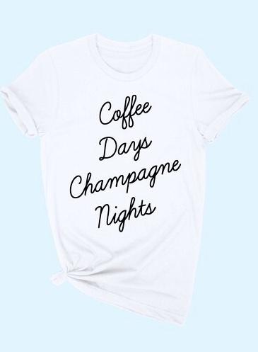 "White ""Coffee Days"" T-shirt"