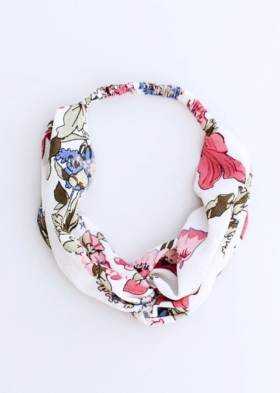 Summer Floral Twisted Headband