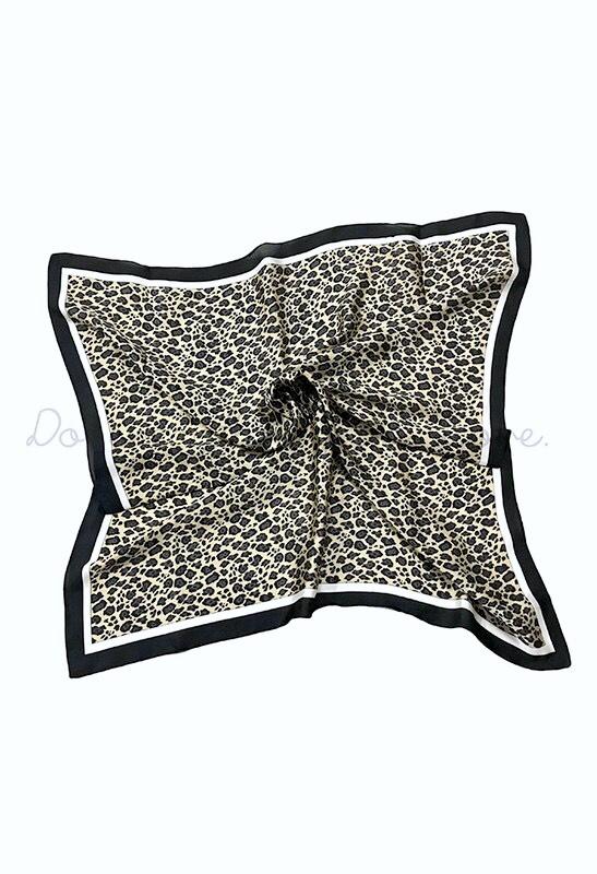 Leopard Print Silky Hair Scarf