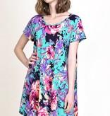 Jade Floral Tunic Dress