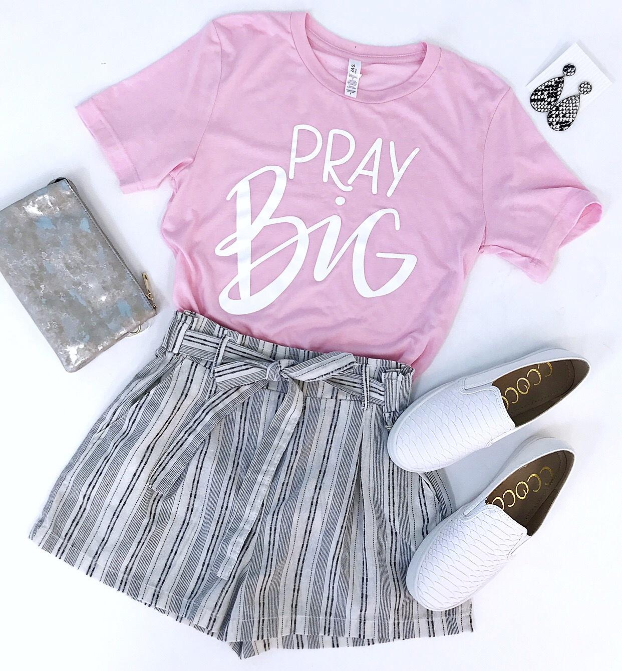 Pink Pray Big T-Shirt