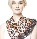 Leopard Print Edge Block Hair Scarf