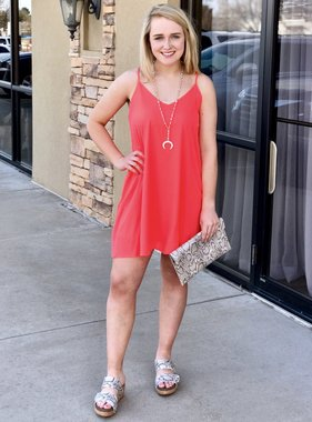Hot Pink Spaghetti Strap Dress