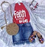 Red Faith Always Wins T-Shirt
