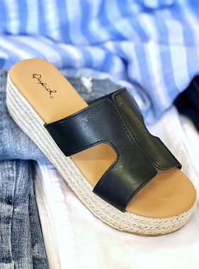 Beachie Platform Sandal Black