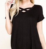 Black SS Criss Cross Top