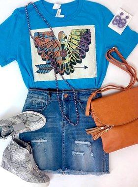 Sky Blue Phoenix with Arrow T-shirt