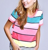 Vivid Multi Stripe Terry Top