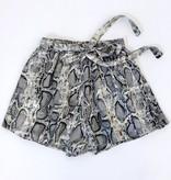 Snake Skin Print Woven Shorts