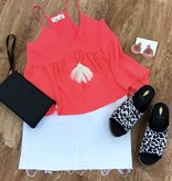 Bright Pink Solid Tank