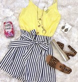 Yellow Button Up Tank Top