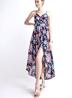 Navy/Pink/Purple Mix Floral Jumpsuit