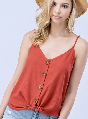 Fiesta Button Up Tank Top