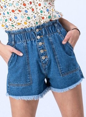 Medium Denim High Waist Shorts