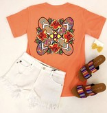 Orange Floral & Flip Flop T-Shirt