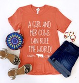 Orange A Girl and Her Cows T-Shirt
