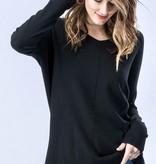 Black V-Neck Dreamer Sweater