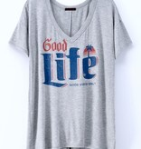 "Grey ""Good Life"" Comfort T-shirt"