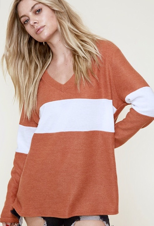 Basically Casual Contrast Top