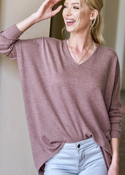 Cozy Together Mauve Top