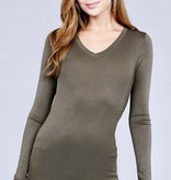 Forest Green Long Sleeve Rayon Top
