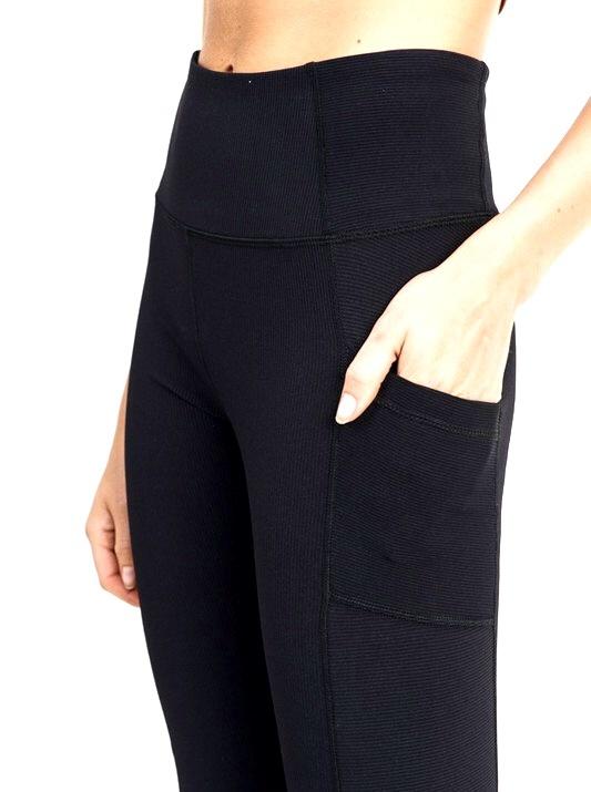 High Waisted Ribbed Pocket Leggings