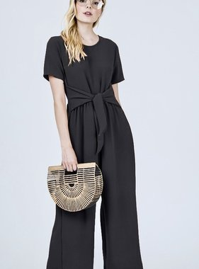 Wrap It Up Bow Jumpsuit Black