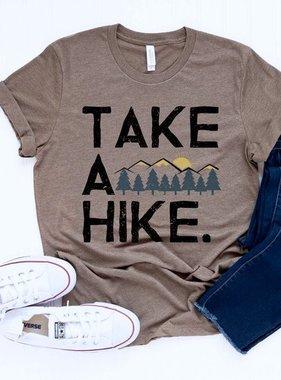 "Light Brown ""Take A Hike"" T-shirt"