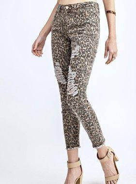 Brown Leopard Print Jeans