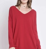 Red V-Neck Dreamer Sweater