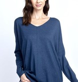 Navy V-Neck Dreamer Sweater