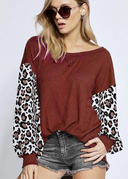 Dreaming Of Tomorrow Top Burgundy