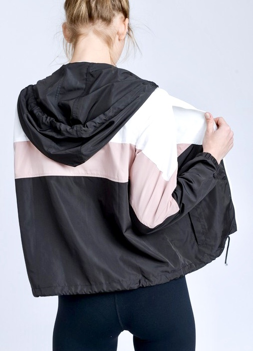 Rainy Day Black/Pink Wind Breaker
