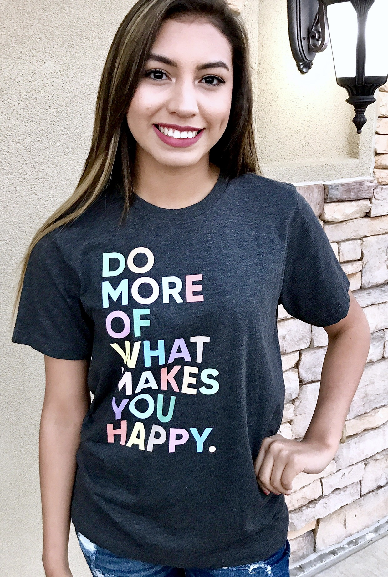 "Charcoal ""Makes You Happy"" T-shirt"
