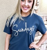 "Navy ""Sundays"" T-shirt"