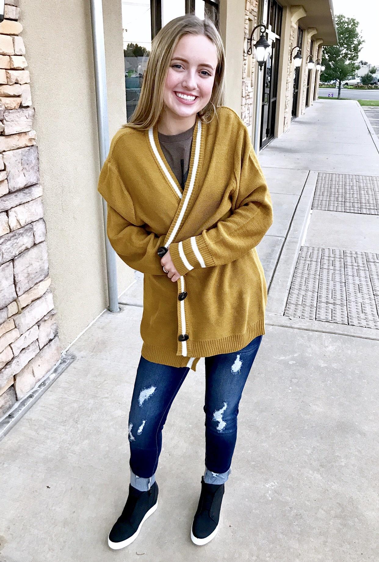 Game Day Sweater Mustard