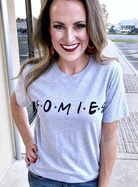 "Grey ""HOMIES"" T-shirt"