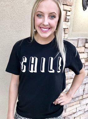"""Black """"Chill"""" T-shirt"""